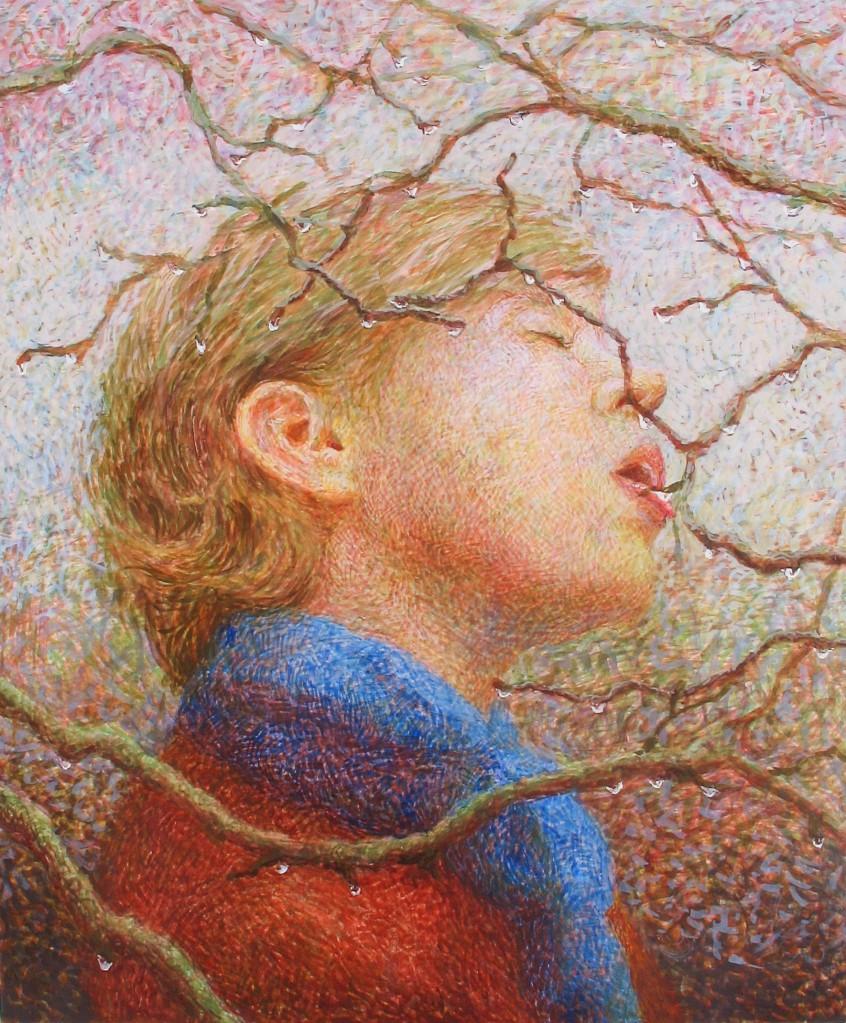 eggtempera painting by Anni Henriksson